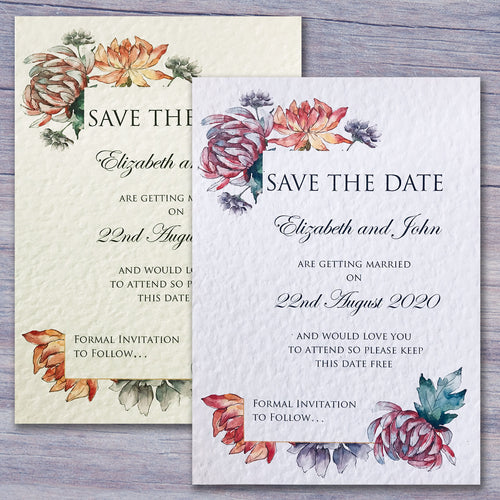 ALEXIA Save the Date cards