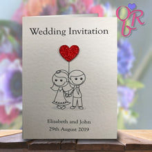 AMELIA Folded Invitation - Glitter