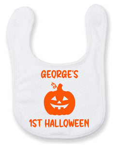 Personalised First Halloween Baby Bib