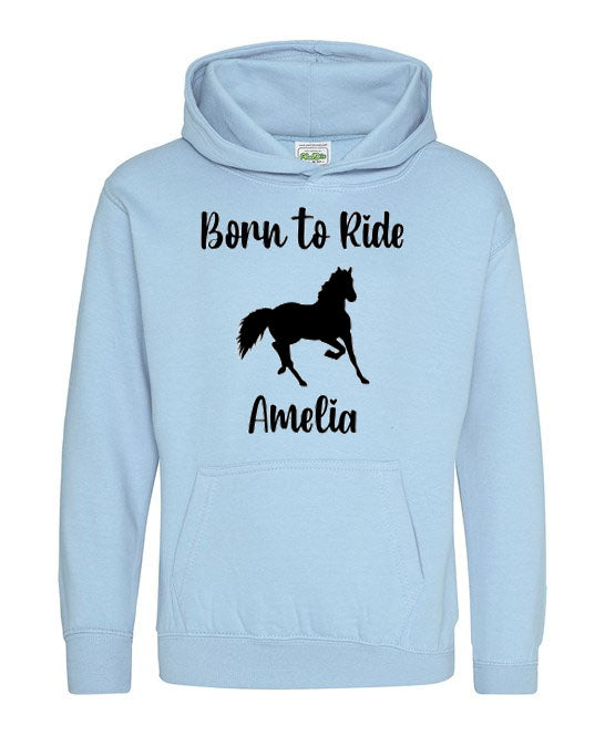 Born to Ride Kids Horse Riding Hoodie