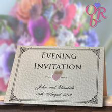 CHARLOTTE Folded Invitation - Pearl