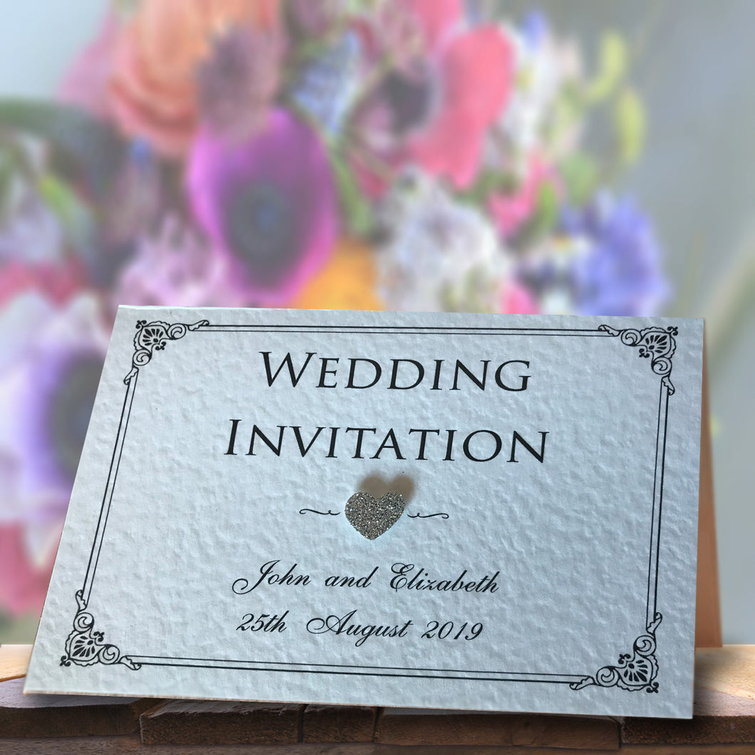 CHARLOTTE Folded Invitation - Glitter