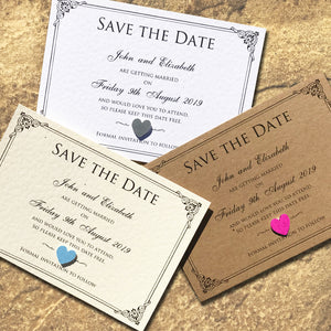 CHARLOTTE Save the Date Cards - Pearl
