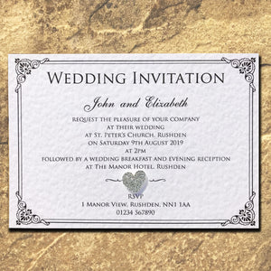 CHARLOTTE Day or Evening Invites - Glitter