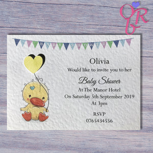 Cute Animal Baby Shower Invitation