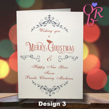 Deluxe Personalised Christmas Cards