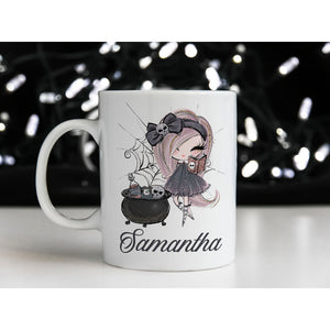 Cute Witch Personalised Mug