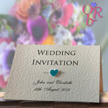 ELIZABETH Folded Invitation - Pearl