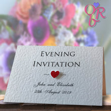 ELIZABETH Folded Invitation - Glitter
