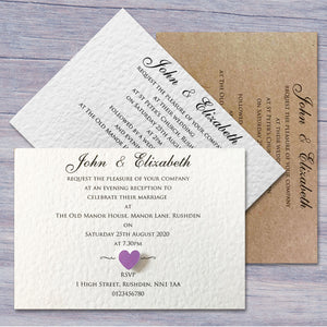ELIZABETH Day or Evening Invites - Pearl