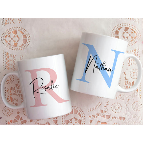 Personalised Initial Mug for Him or Her