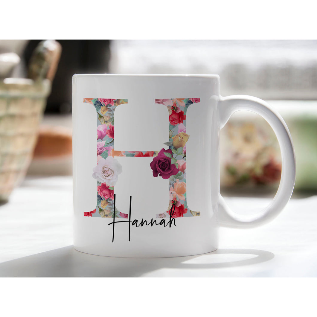 Floral Bloom Personalised Mug