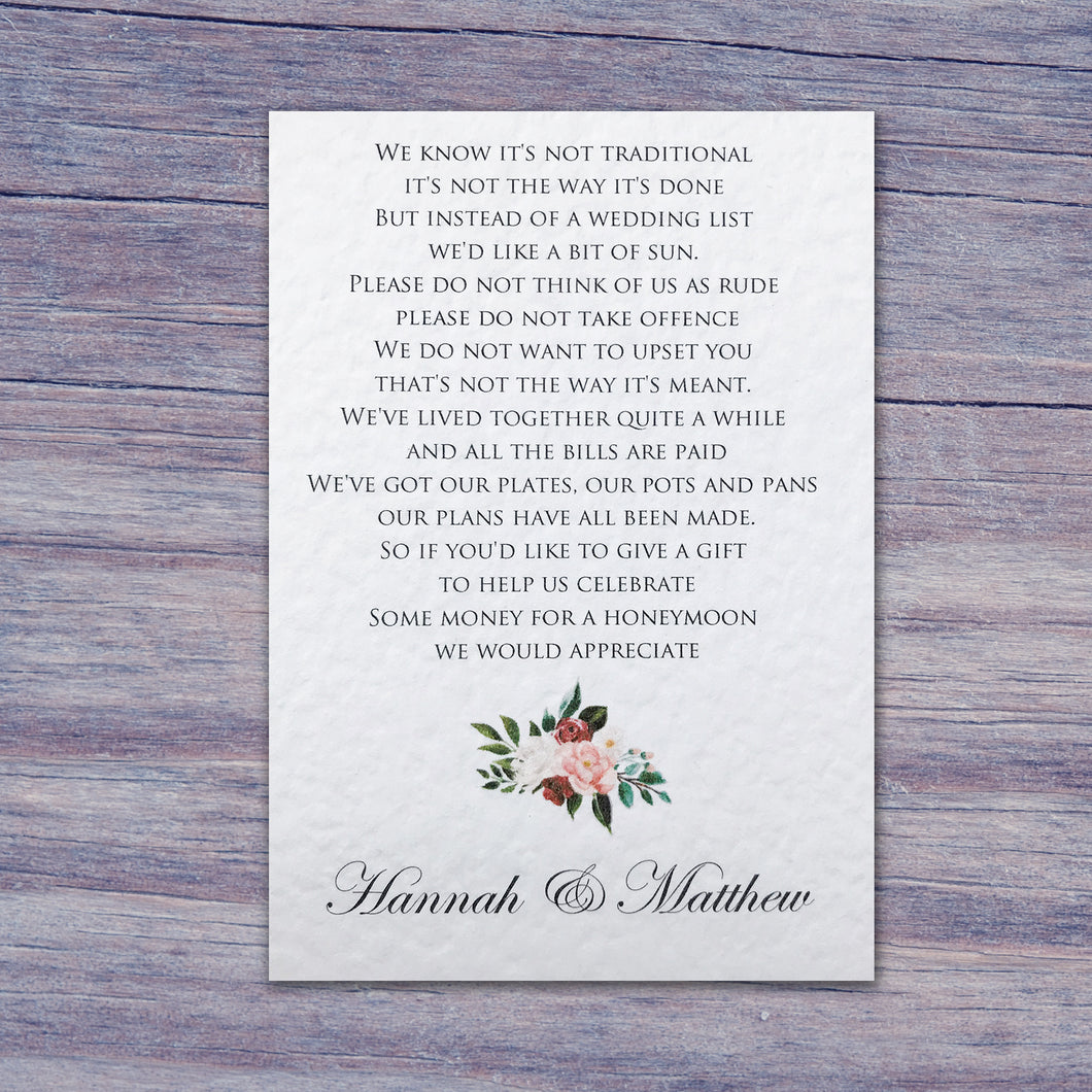 FLORENCE Money Poem Card