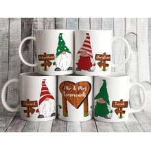 Mr and Mrs Gnome Personalised Mug