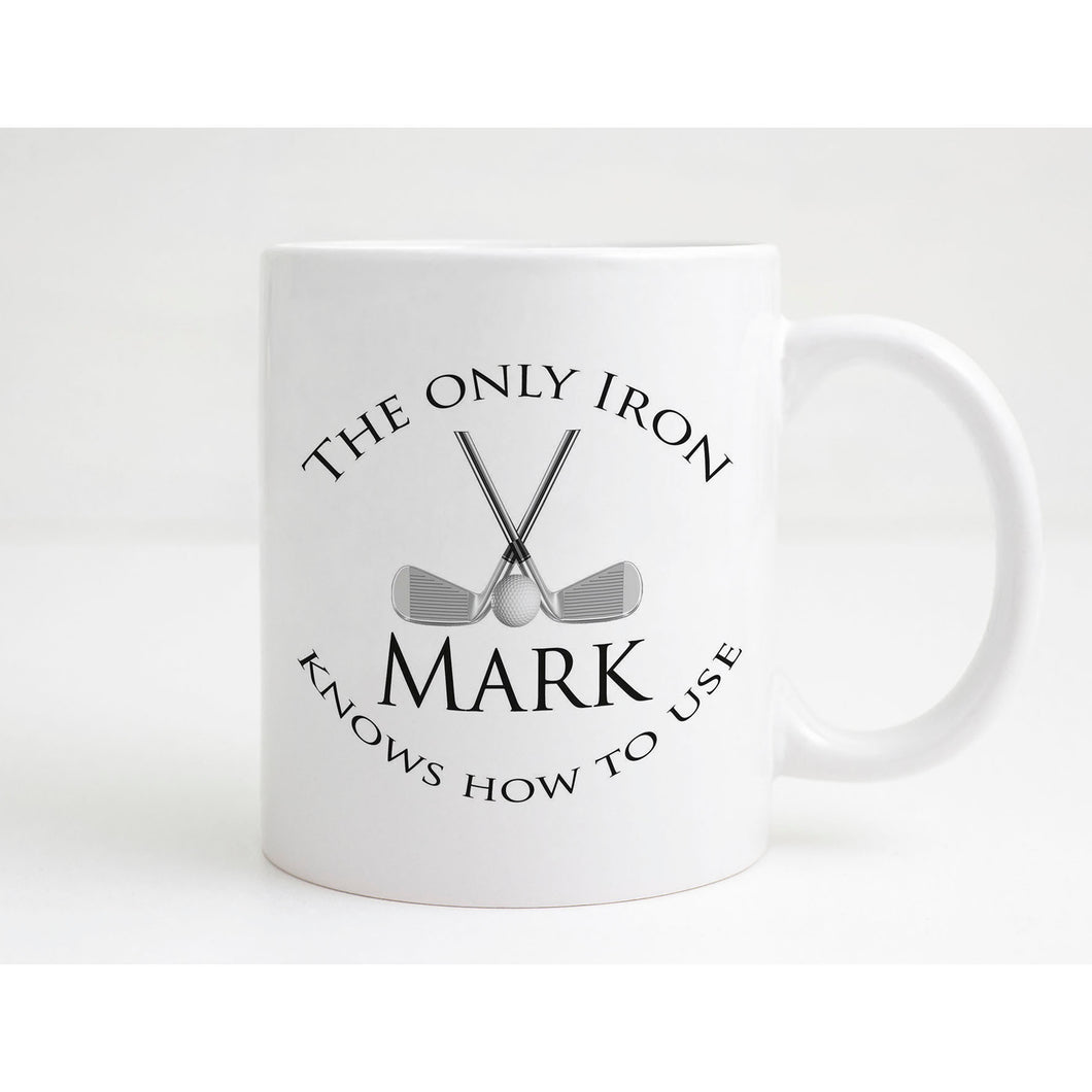 The Only Iron Personalised Golf Mug