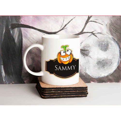 Personalised Halloween Pumpkin Mug V3