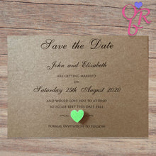 ELIZABETH Save the Date Cards - Glitter