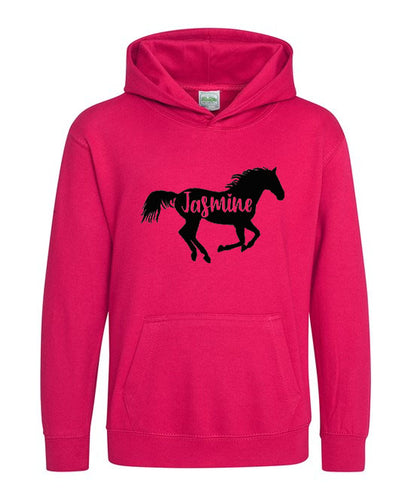 Kids Personalised Horse Riding Hoodie