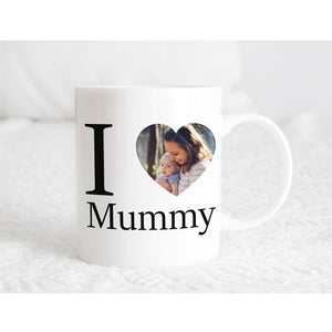 I ❤ Mummy/Nanny Photo Mug *Any Variation of name can be added*