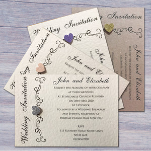 JENNIFER Day or Evening Invites - Glitter