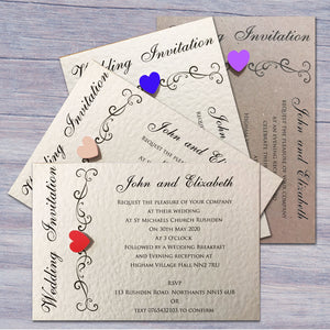 JENNIFER Day or Evening Invites - Pearl