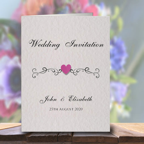 JENNIFER Folded Invitation - Pearl
