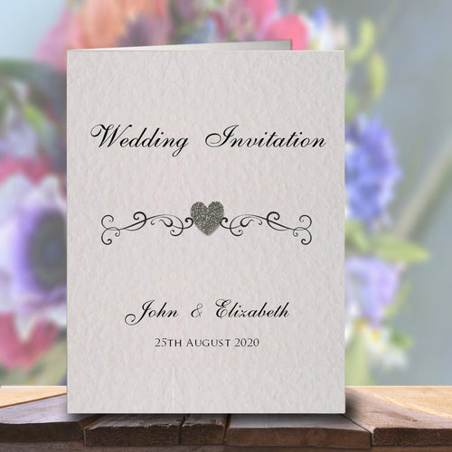 JENNIFER Folded Invitation - Glitter