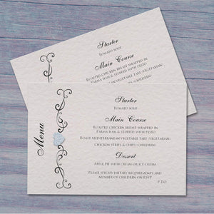 JENNIFER Wedding Menu - Glitter