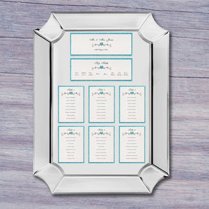 JENNIFER DIY Table Plan Cards - Glitter