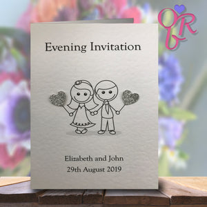 JESSICA Folded Invitation - Glitter