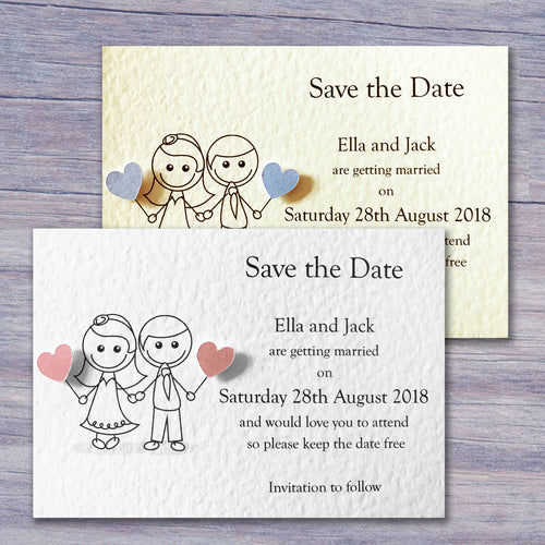JESSICA Save the Date Cards - Pearl