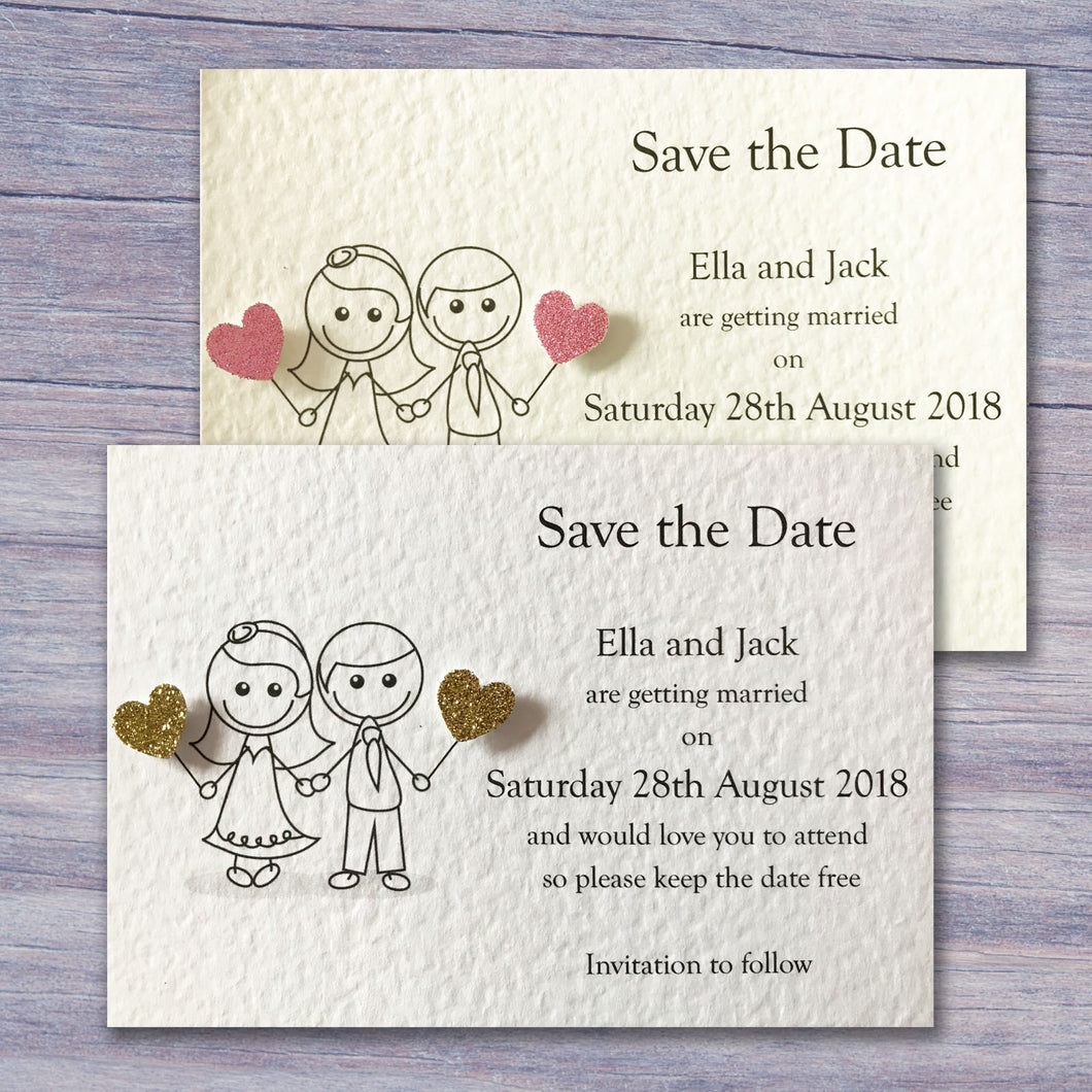 JESSICA Save the Date Cards - Glitter