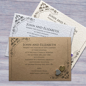 KATIE Day or Evening Invites - Glitter