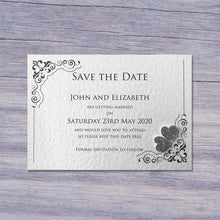 KATIE Save the Date Cards - Glitter