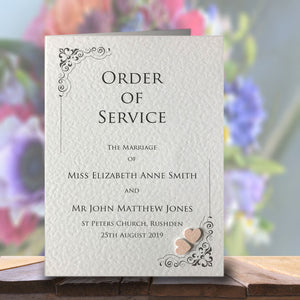 KATIE Order of Service Booklet - Glitter