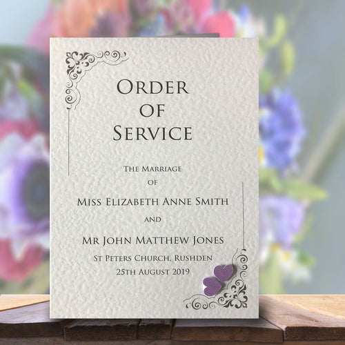KATIE Order of Service Booklet - Pearl