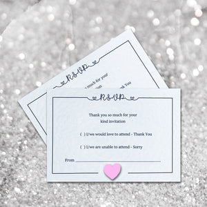 LOLA RSVP Cards - Pearl