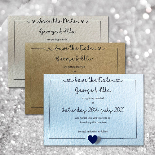 LOLA Save the Date cards - Pearl