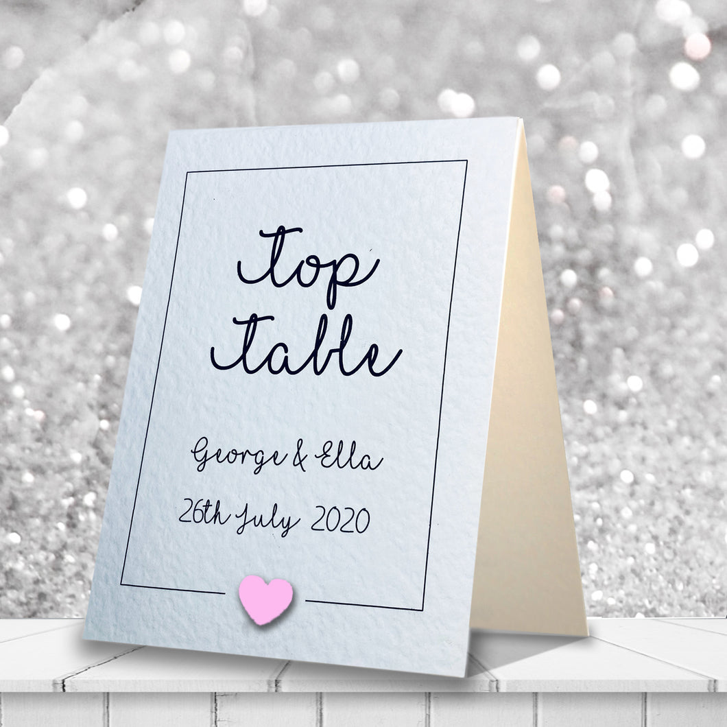 LOLA Table Numbers - Pearl