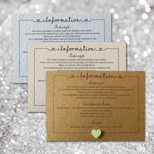 LOLA Information Cards - Glitter