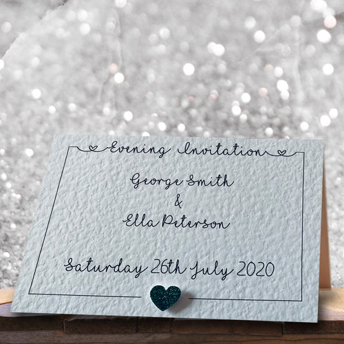 LOLA Folded Invitation - Glitter
