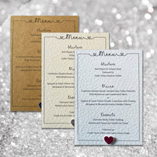 LOLA Wedding Menu - Glitter