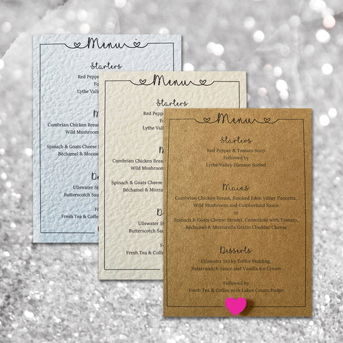 LOLA Wedding Menu - Pearl