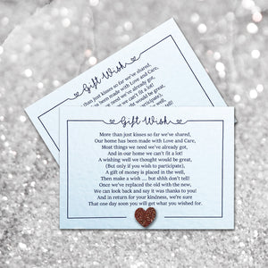 LOLA Money Poem Card - Glitter