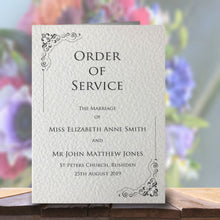 MARIA Order of Service Booklet