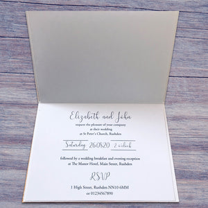 MARTHA Folded Invitation