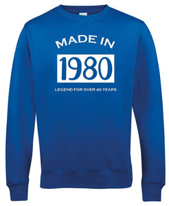 Made in 1980 sweater