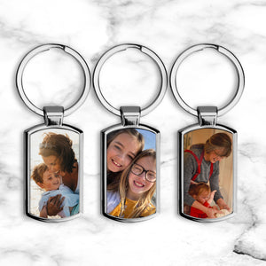 Metal Photo Keyring *Upload Your Own Photo*