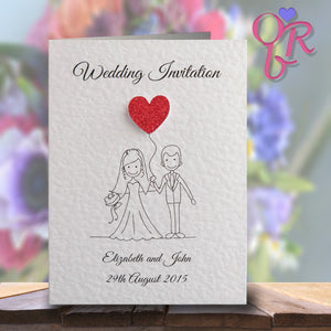 MILLIE Folded Invitation - Glitter