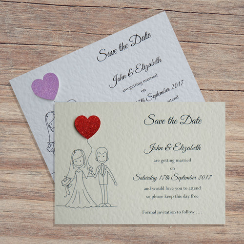 MILLIE Save the Date Cards - Glitter